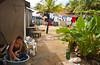Residential area of Coxen Hole, Roatan, Honduras, Central America.