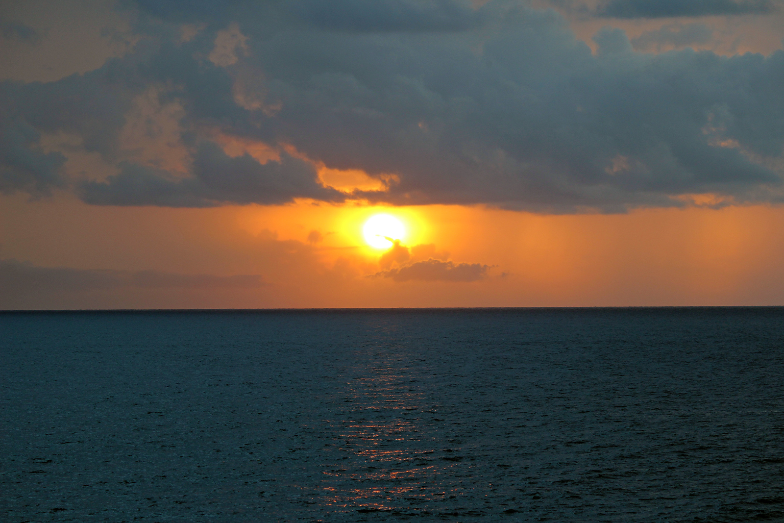 The sunset at Ricks Cafe Jamaica - Negril, Jamaica