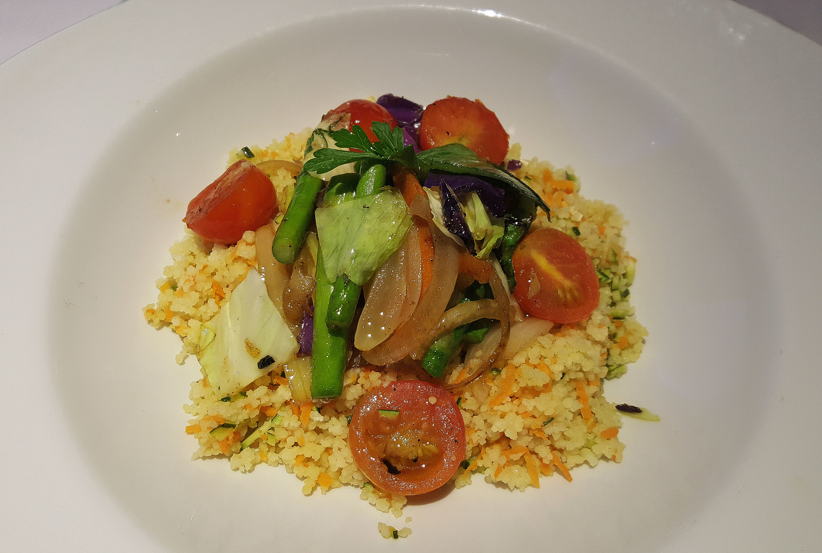 Vegan food at the Hotel Riu Palace Tropical Bay Resort in Negril