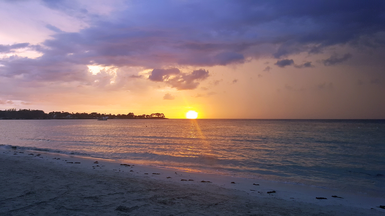 Sunset at Bloody Bay Beach in Negril Jamaica