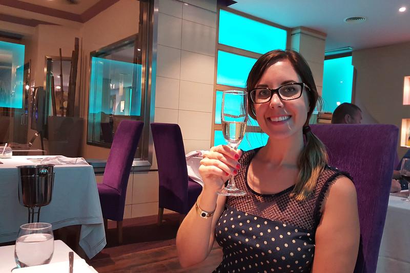 Lauren at the Krystal Fusion Restaurant