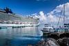 The Norwegian cruise ship Epic docked in Ocho Rios, Jamaica.