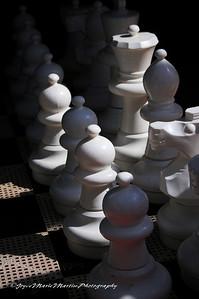 Giant chess board, lido deck