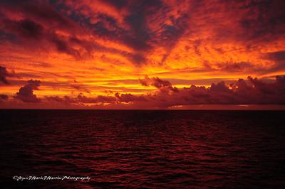 Sunrise on 11/8/08 Caribbean Sea
