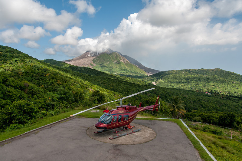 Helipad on the island of Montserrat