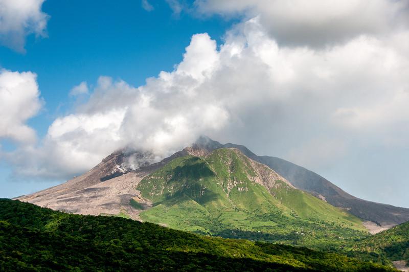 The volcano of Montserrat