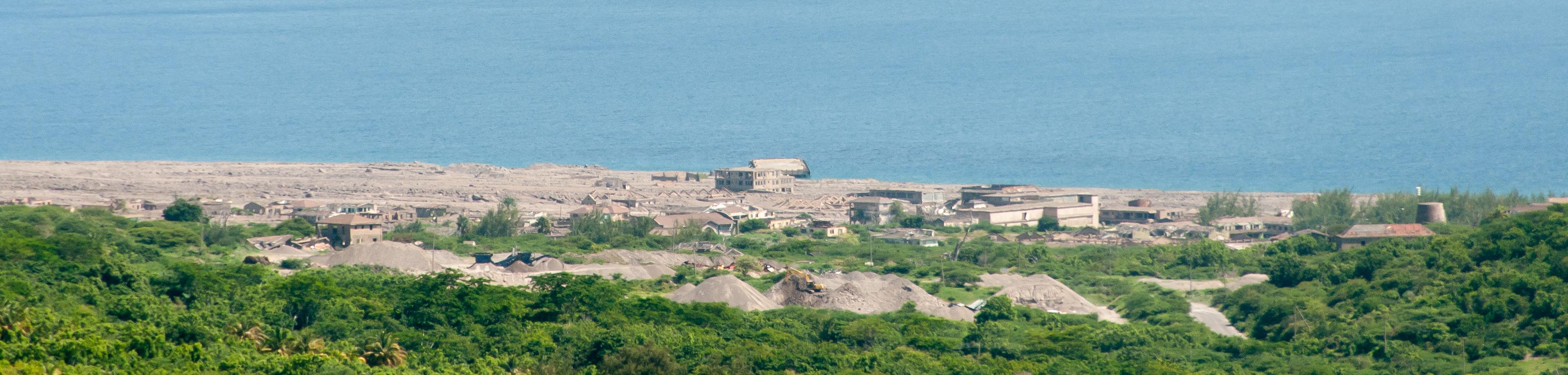 Panorama of the island of Montserrat