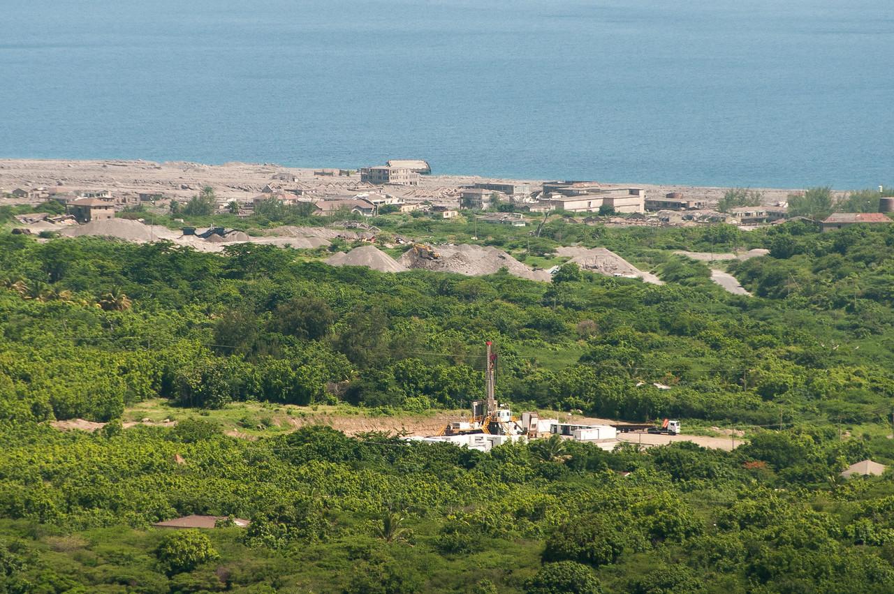 Overlooking view of the island of Montserrat