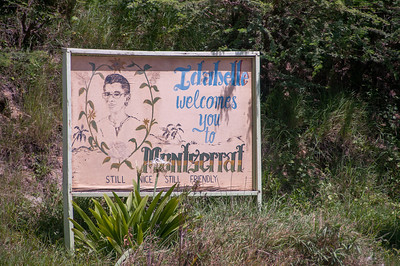 Welcome sign on the island of Montserrat