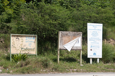 Road signs on the island of Montserrat