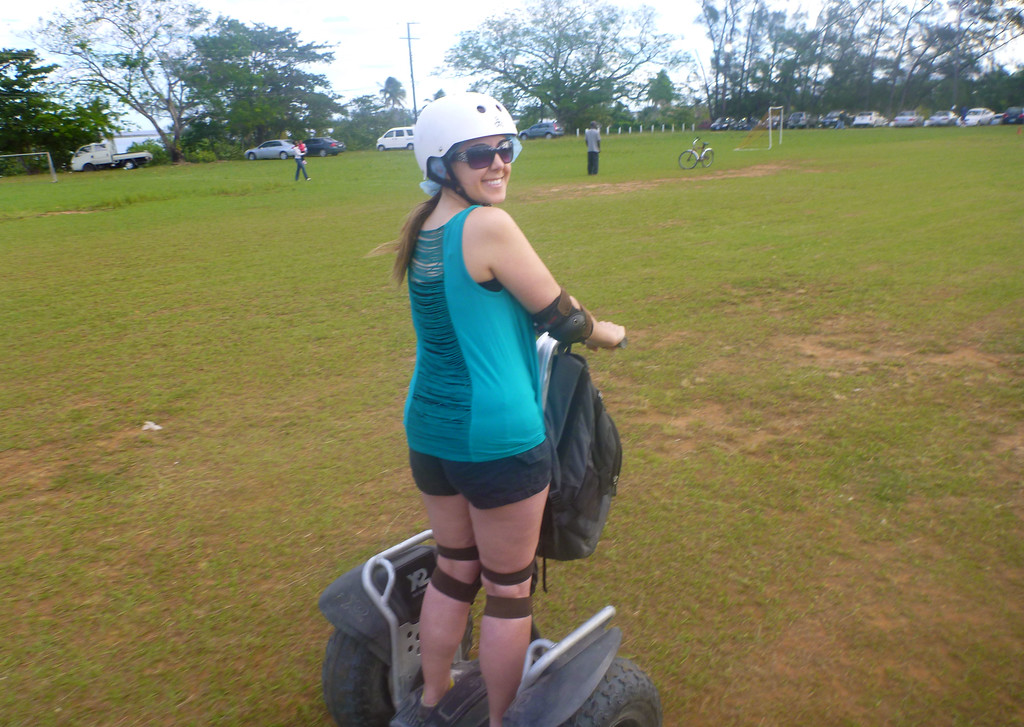 Riding segways in Nassau Bahamas