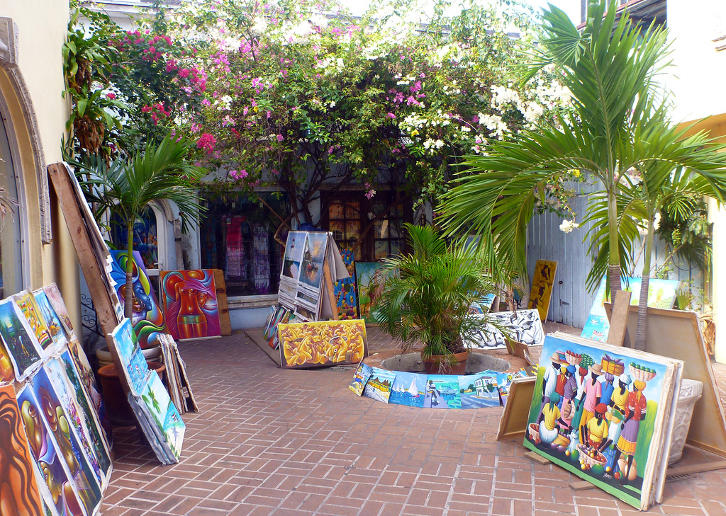Artist alley in Nassau Bahamas