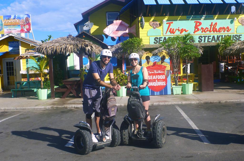 Segways in Arawak Cay, Nassau Bahamas