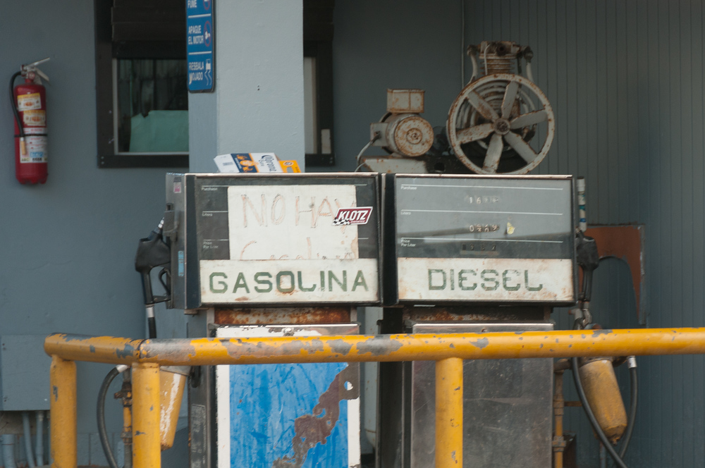 The only gas pump on the island of Culebra, Puerto Rico