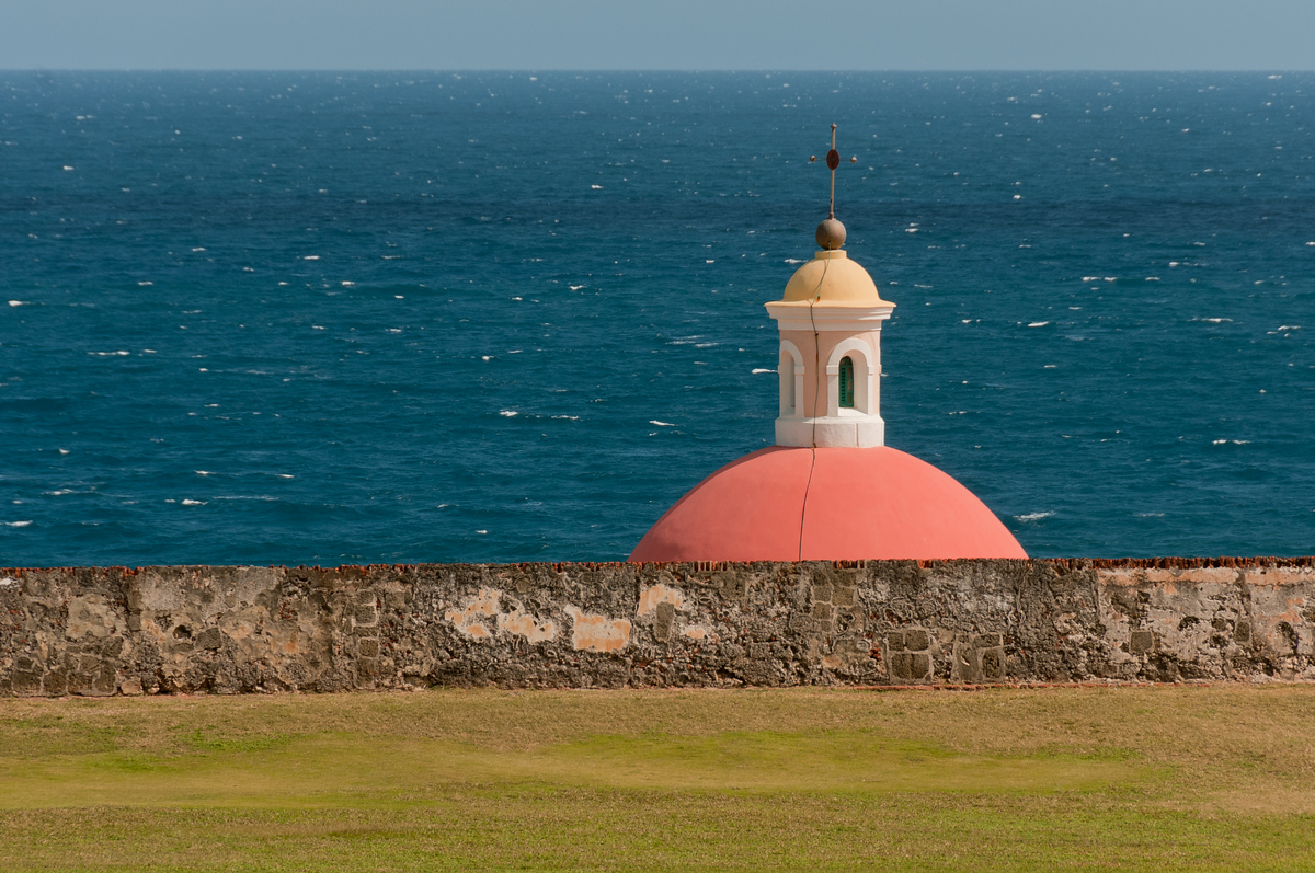 Dome of the Chapel of the Old San Juan Cemetery, Puerto Rico