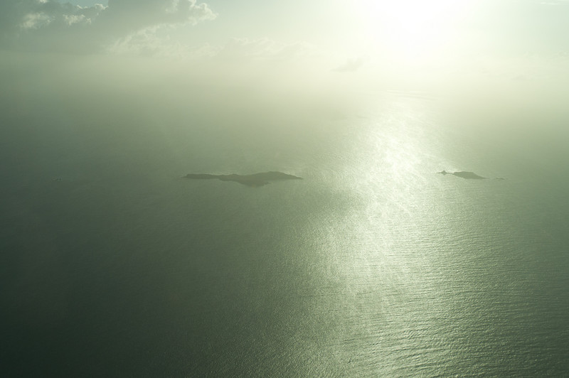 Aerial view of the islands of Puerto Rico