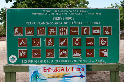 Sign at Flamenco Beach, Culebra Island, Puerto Rico