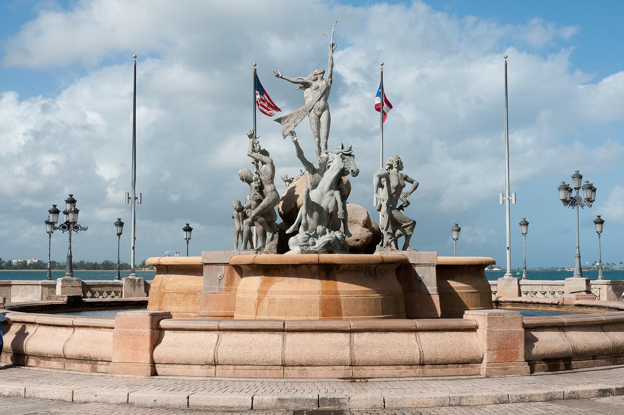The Raices Fountain of Old San Juan - Puerto Rico