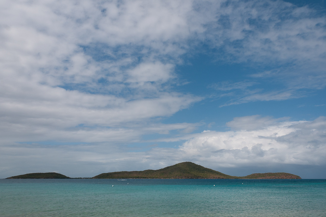 View of Culebrita from the island of Culebra in Puerto Rico