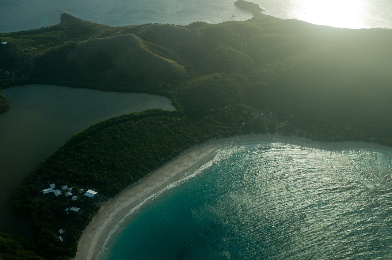 Looking down on Flamenco Beach, Puerto Rico
