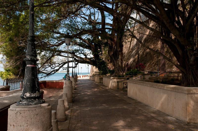 Pathwalk near the beach in San Juan, Puerto Rico