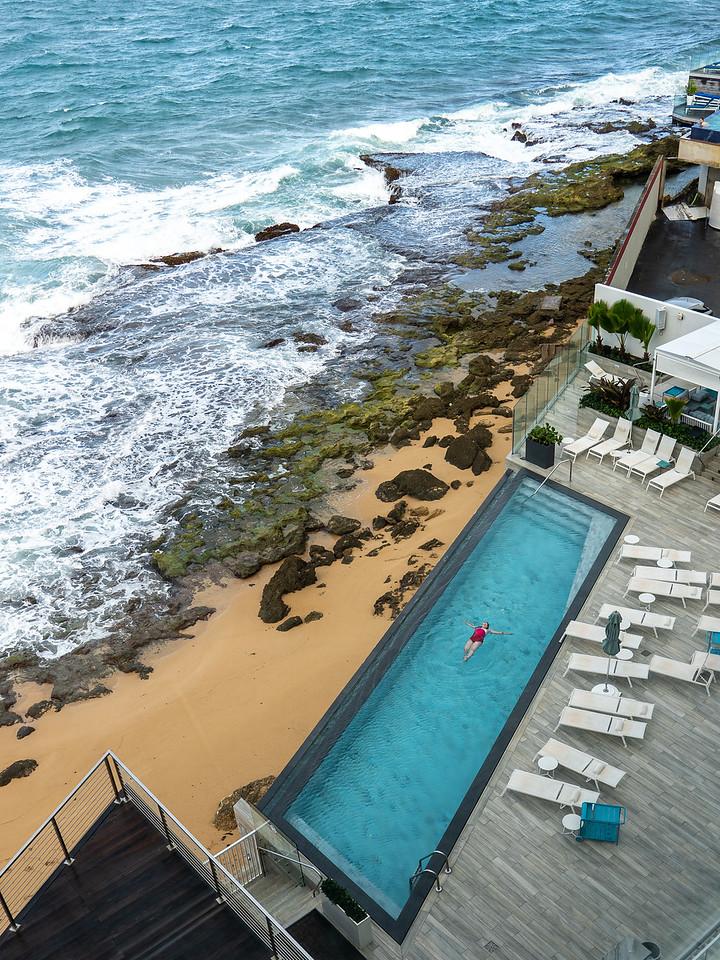 Serafina Beach Hotel infinity pool
