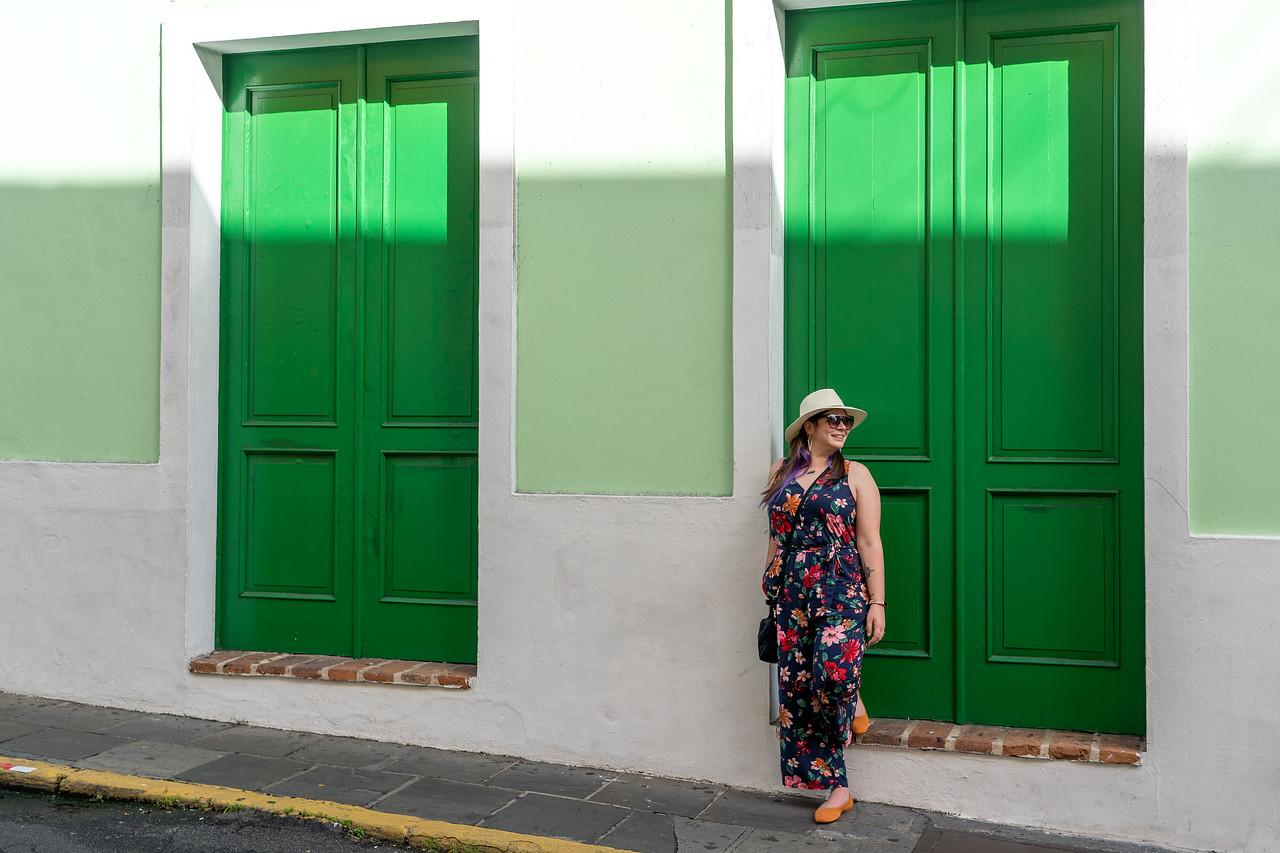 Amanda with doors in Old San Juan