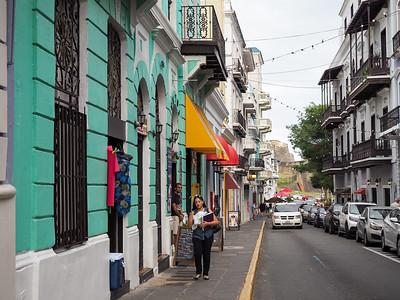 Street scene in Old San Juan, Puerto Rico