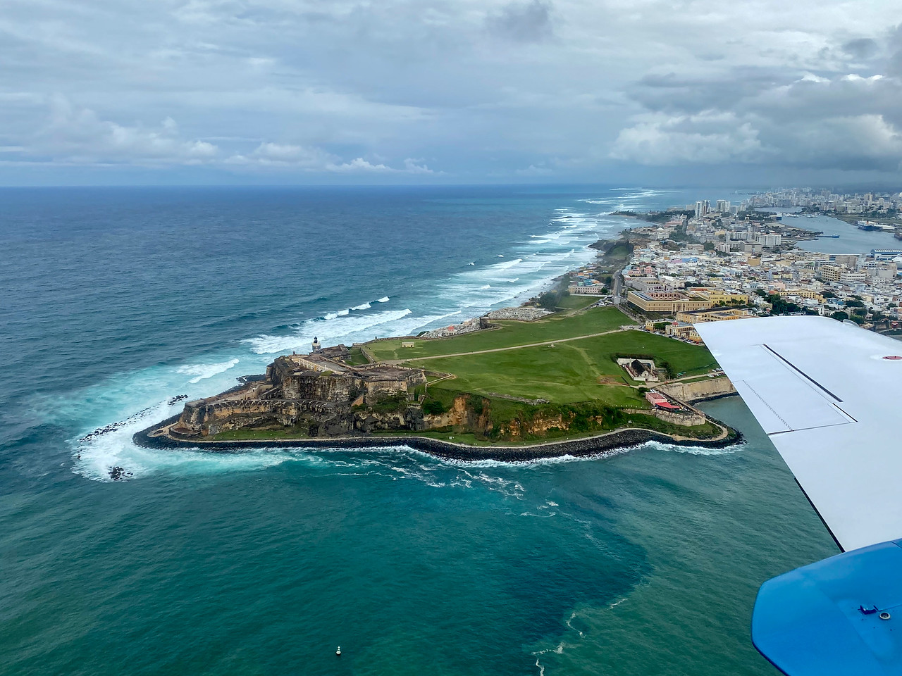 Flying into San Juan, Puerto Rico