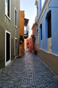 Cobblestone street to our hotel