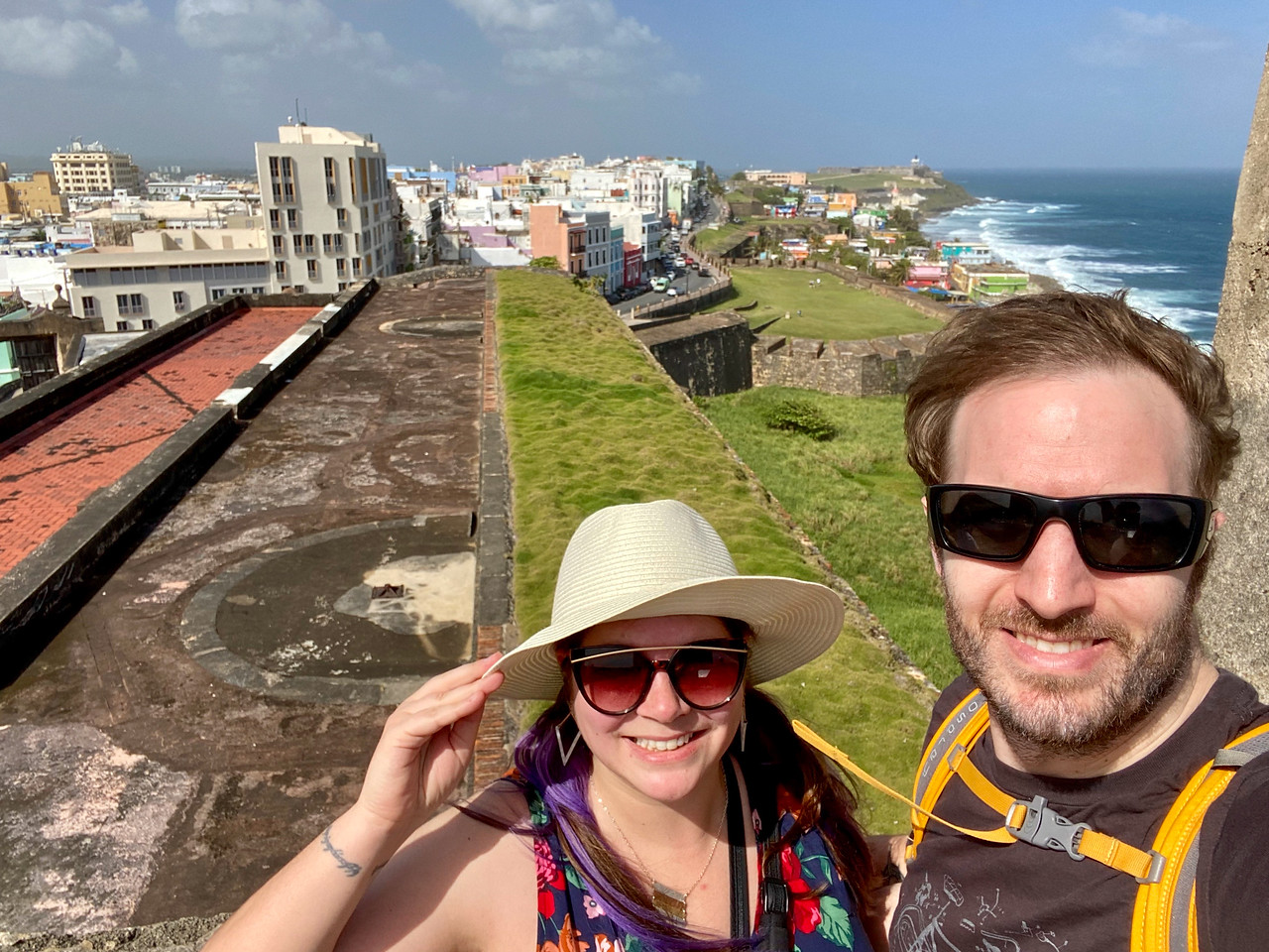Amanda and Elliot in Old San Juan