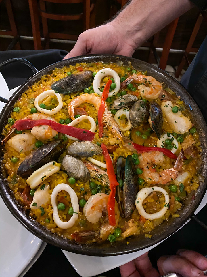Seafood paella at Condal