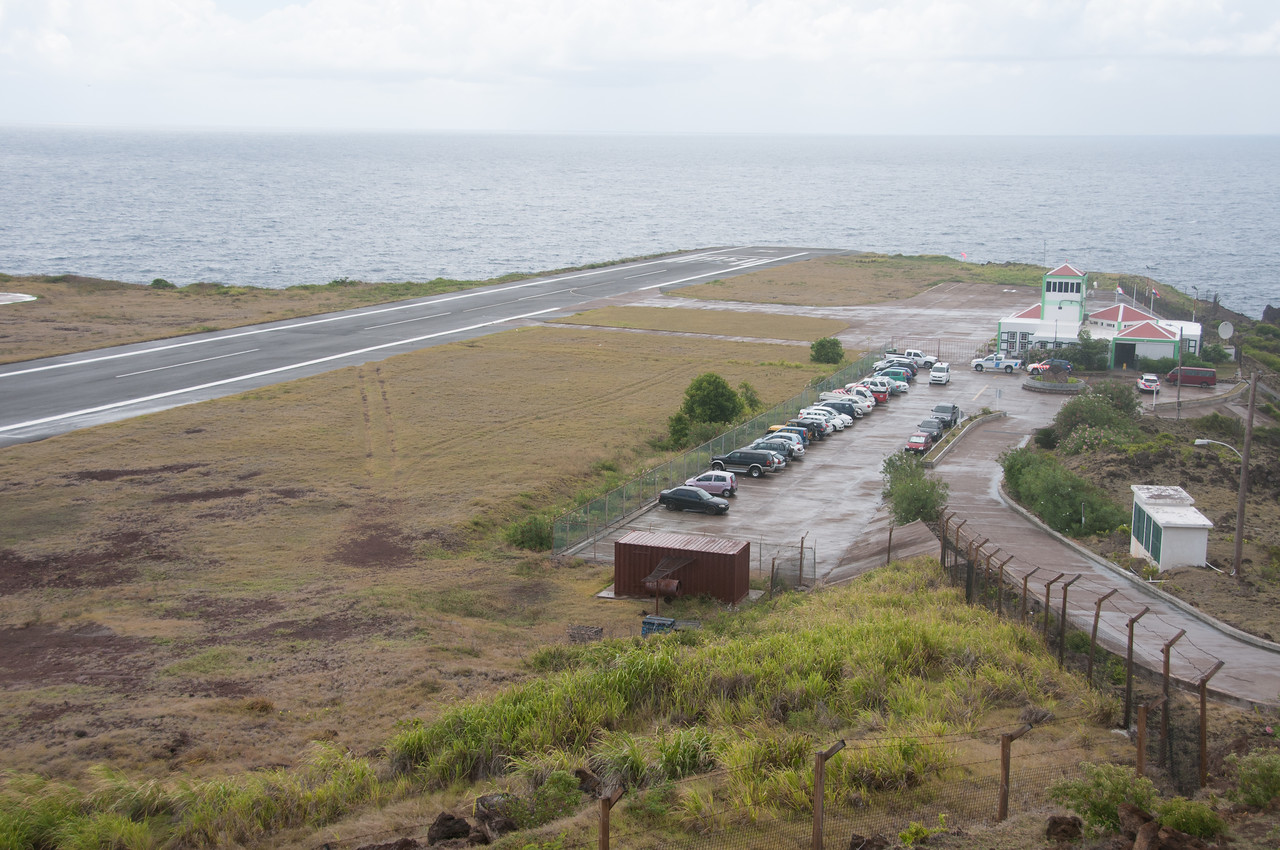 Airport on the island of Saba
