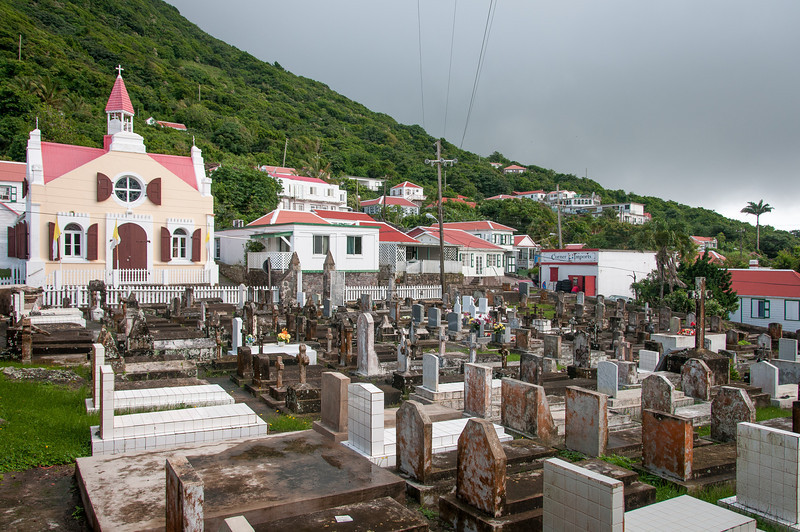 The Village of Windwardside on the Island of Saba