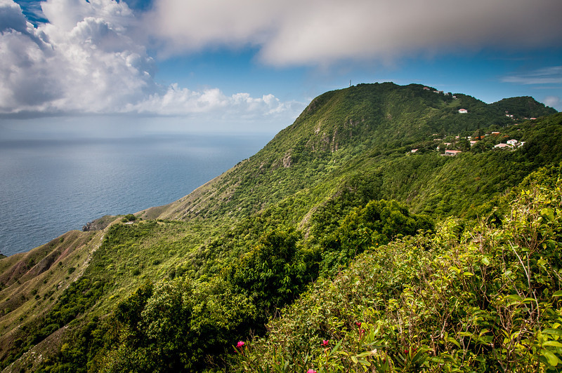 Mountainside on the Island of Saba
