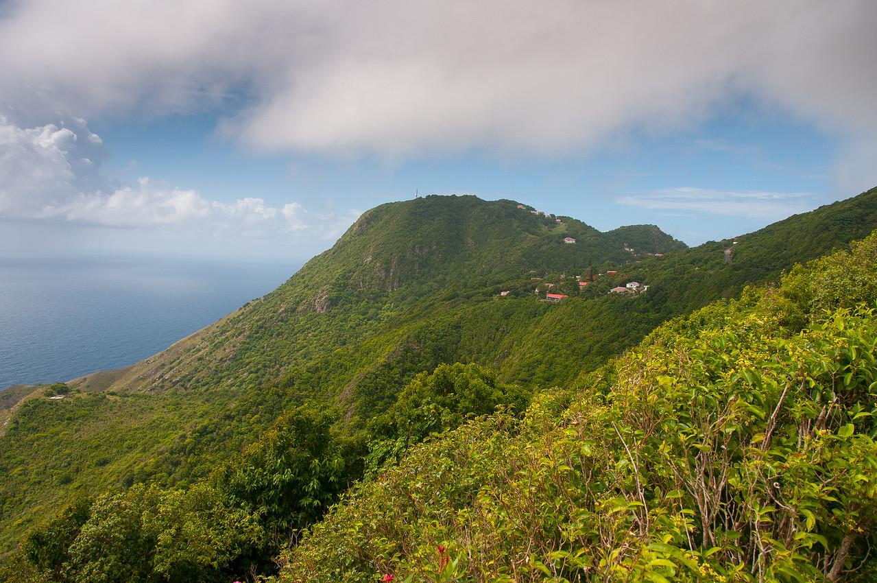 Mountainside on the Island of Saba