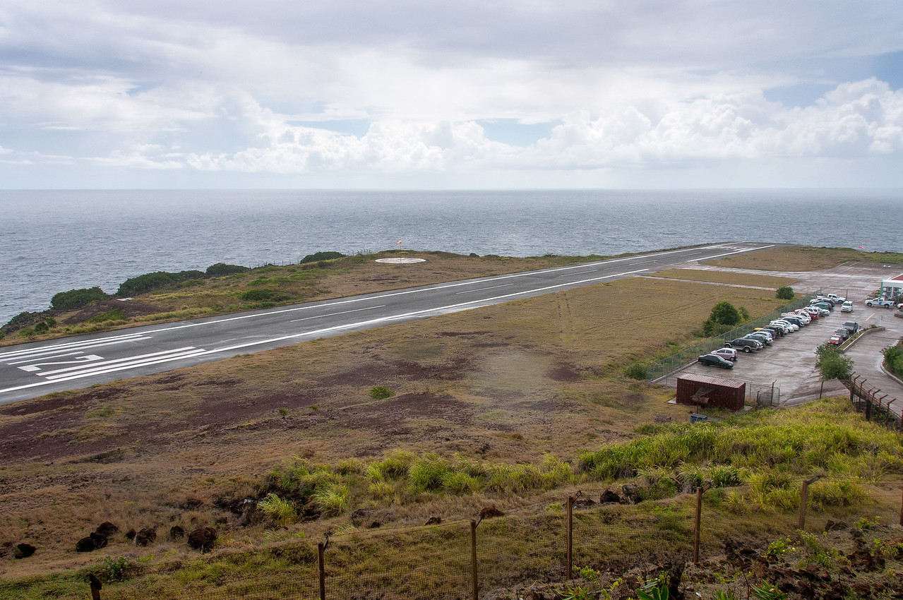 Airport runway on the island of Saba