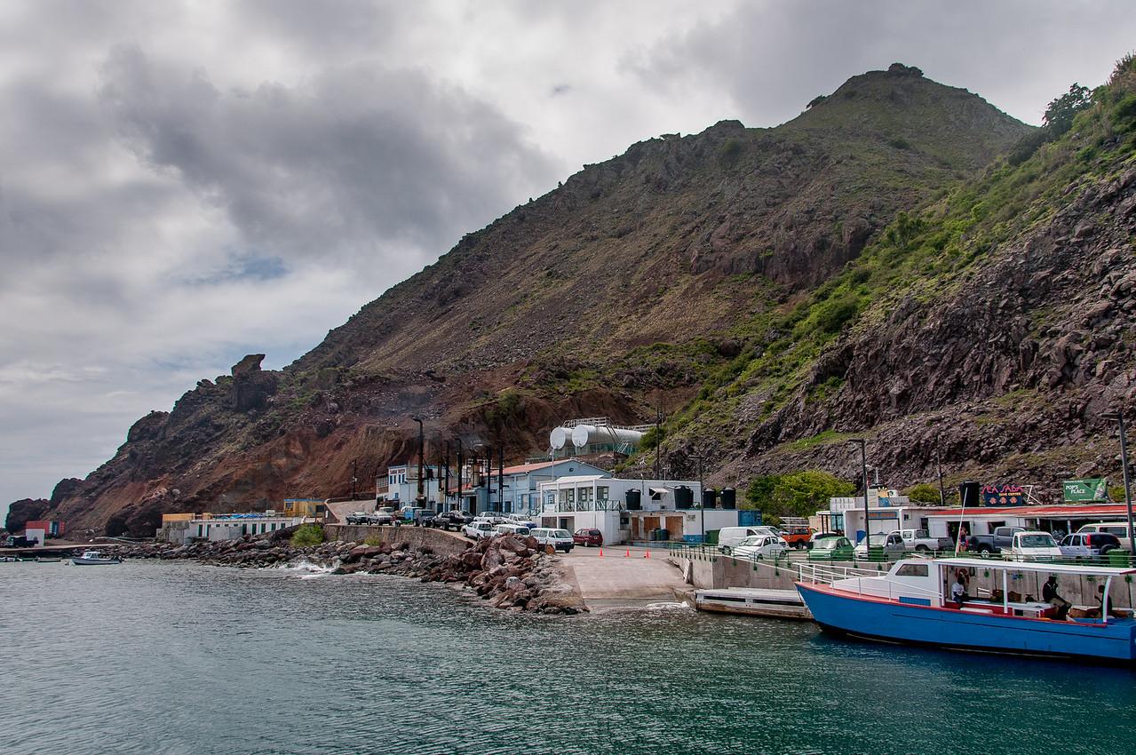 Coastline and mountainside of Saba