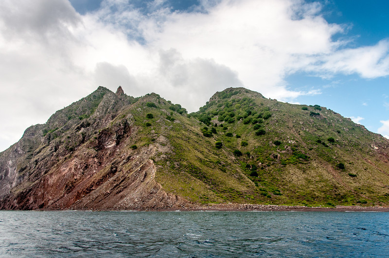 Coastline on the island of Saba