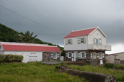 Typical cottage on the island of Saba