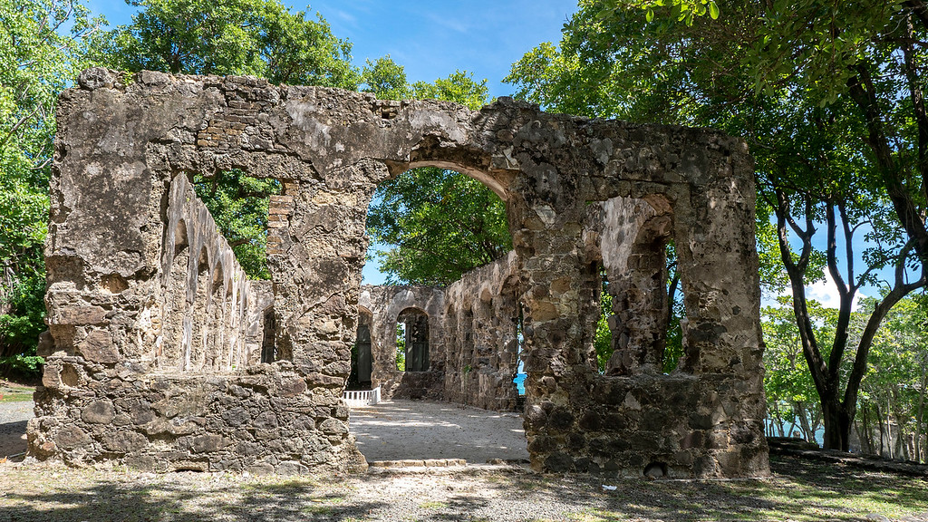 Ruins and military forts at Pigeon Island St Lucia - History of Saint Lucia