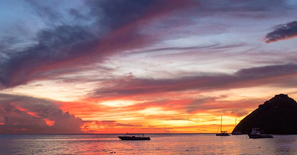 St Lucia Sunsets - Sunset at Sandals Grande St Lucian Resort