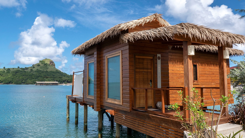 Over the water bungalows at Sandals Grande St Lucian Resort in Saint Lucia