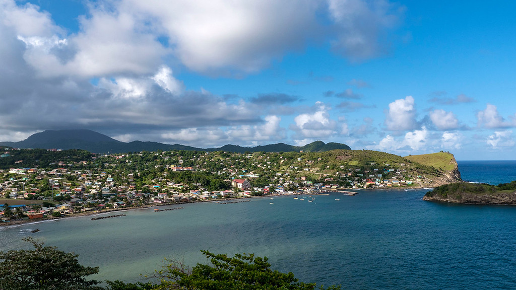 How far is Sandals Grande St Lucian from airport? Scenery between the airport and the resort