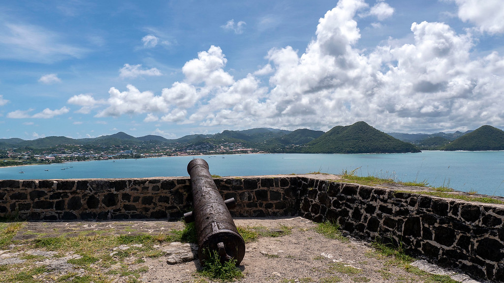 Cannon at Fort Rodney in Saint Lucia