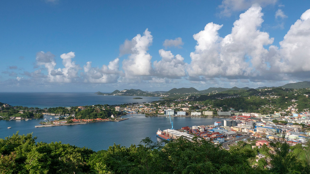 How far is Sandals Grande St Lucian from airport? Scenery between the airport and the resort - Saint Lucia