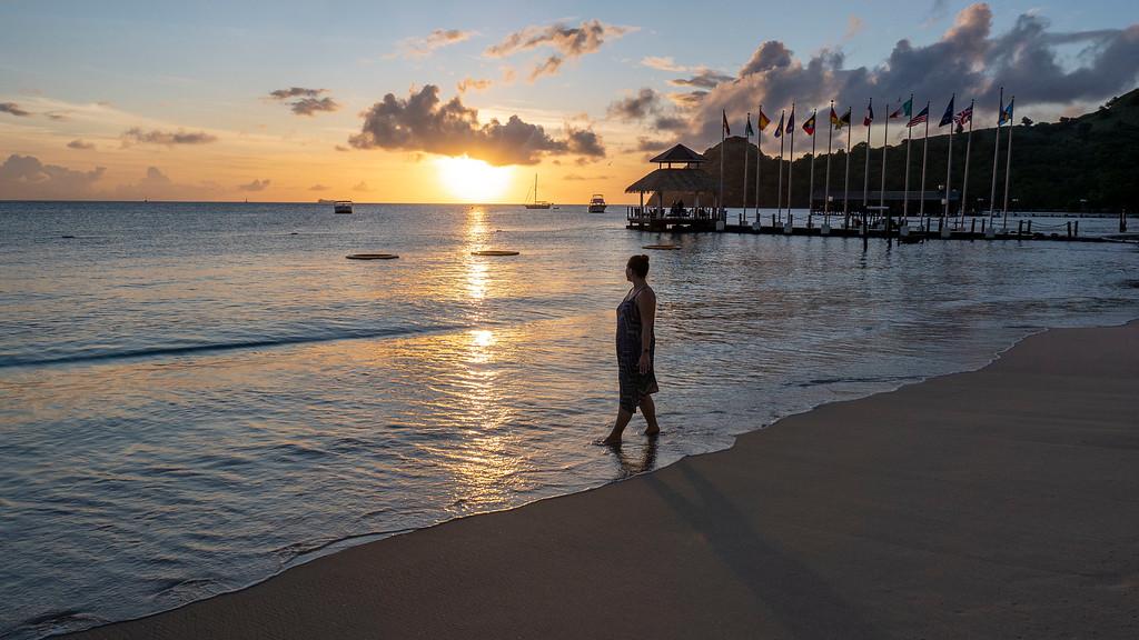 Sandals Grande St Lucian Beach - Rodney Bay - Caribbean Sea - Saint Lucia - At sunset