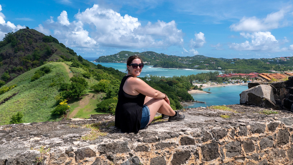 Beautiful scenery at Pigeon Island St Lucia - Pigeon Island National Landmark in Saint Lucia