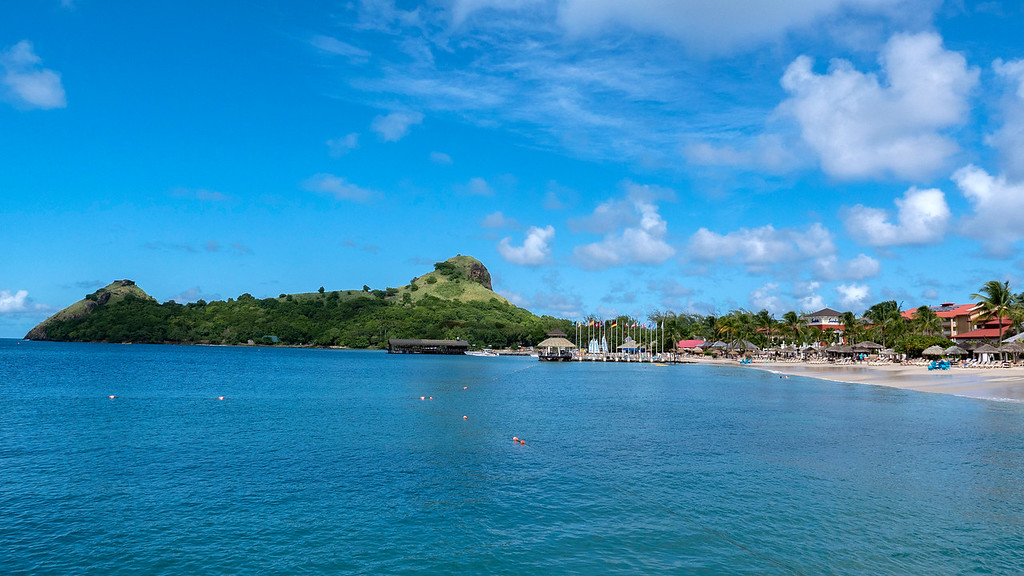 Pigeon Island from the Sandals Grande St Lucian resort