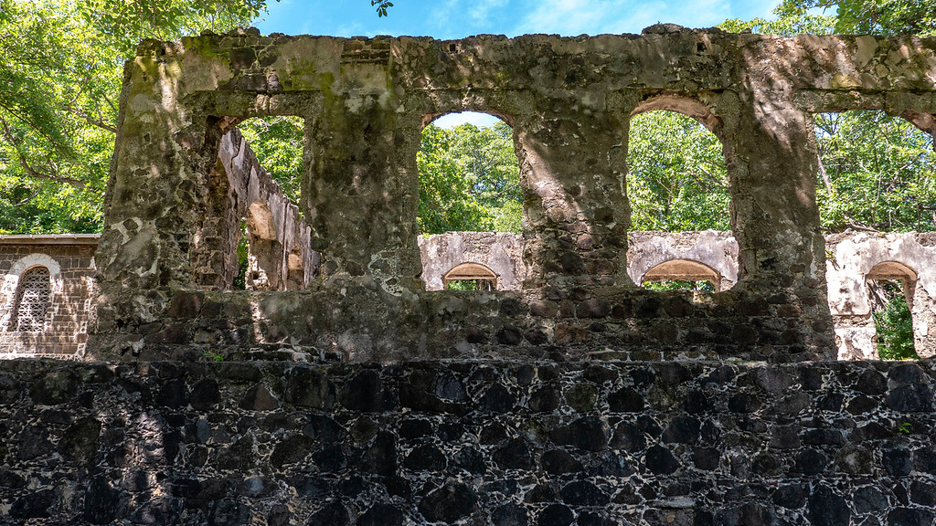Ruins of military forts and barracks in Saint Lucia